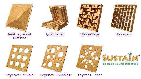 Sustain - מוצרי אקוסטיקה ודיפיוזרים עשויים במבוק מ-Auralex