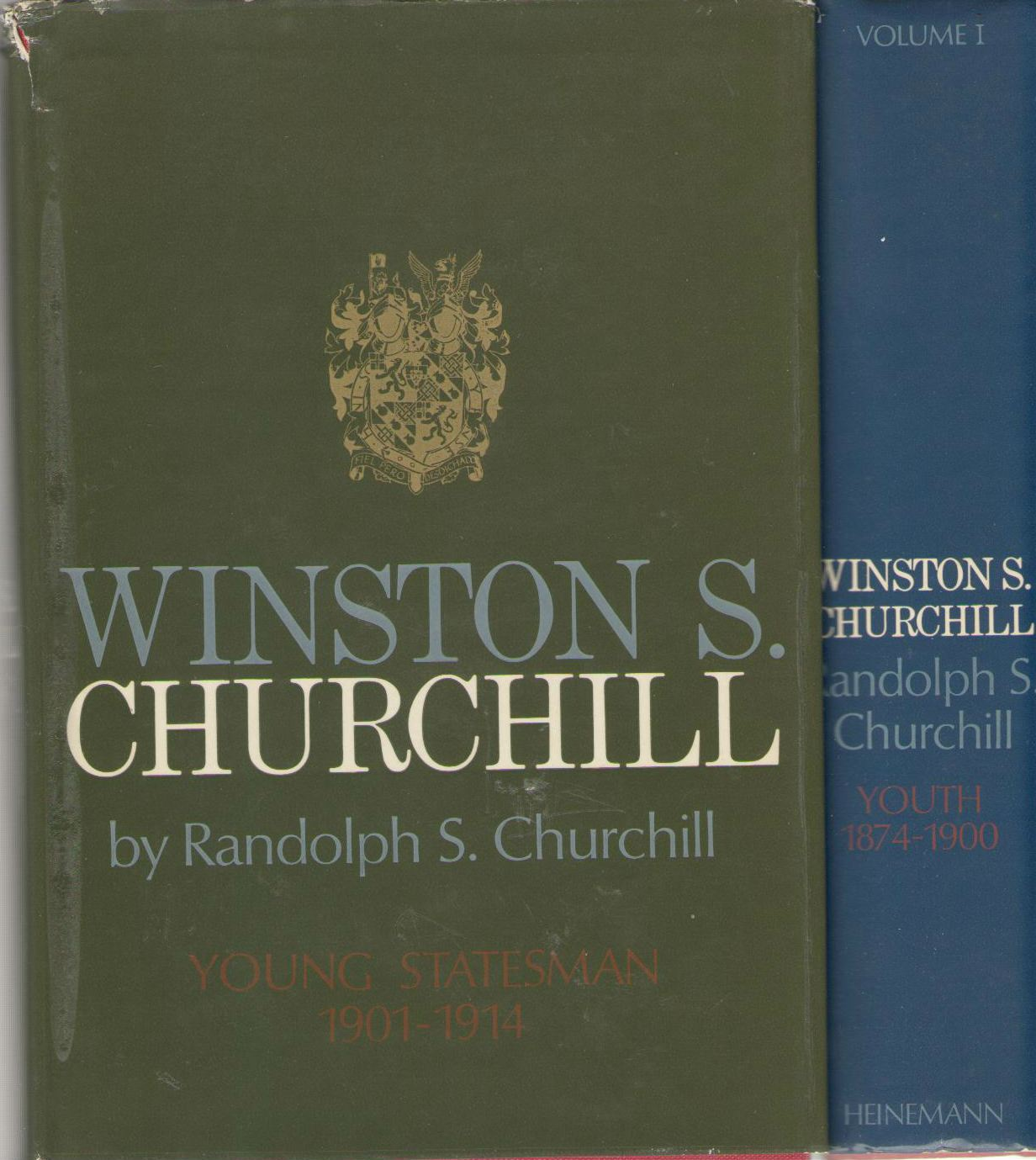 WINSTON S. CHURCHILL. Volume I: Youth 1874 - 1900. & Volume II: Young Statesman, 1901-1914, Randolph Churchill