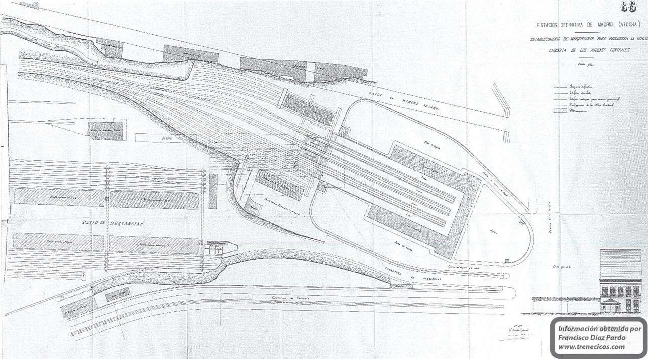Estacion De Atocha Mapa.Arqueologia Ferroviaria Planos De La Antigua Estacion De